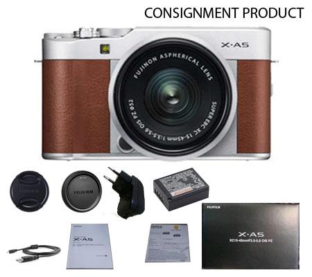 :::USED:::Fujifilm XA5 kit XC 15-45 OIS PZ Brown (Ex-Mint) Kode 292/018 Consignment