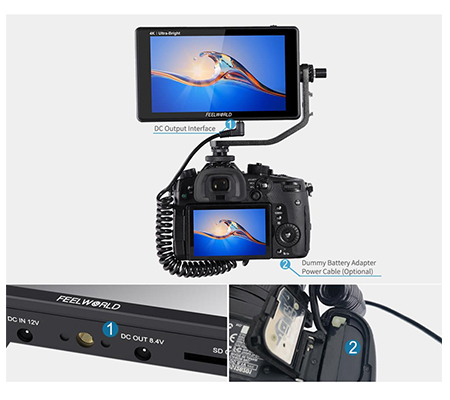 FeelWorld LUT6 6Inch HDR/3D LUT 4K HDMI Touchscreen Field Monitor