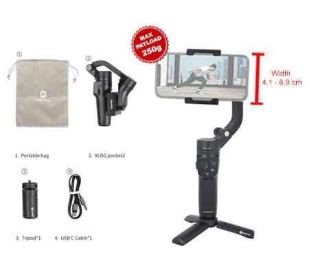 FeiyuTech Vlog Pocket 2 3-Axis Gimbal Stabilizer For Smartphone Black