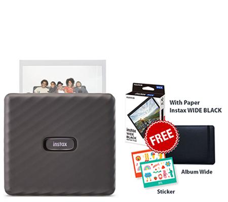 Fujifilm Instax Link Wide Smartphone Printer Launching Package Mocha Gray