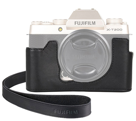 Fujifilm Leather Half Case For Fujifilm XT200 Black