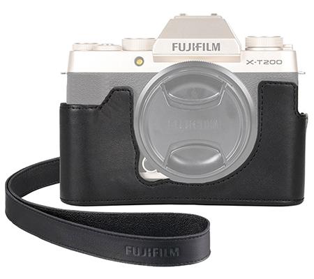 Fujifilm Leather Half Case For Fujifilm XT200 Black