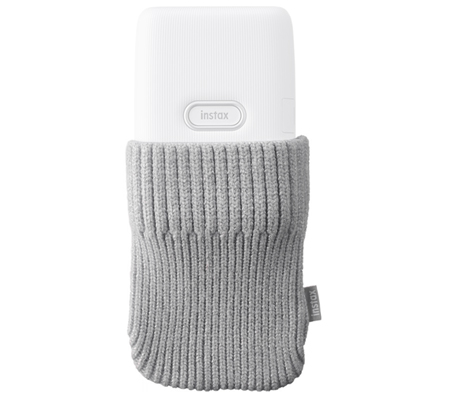 Sock Case Fujifilm Instax Mini Link Ash White