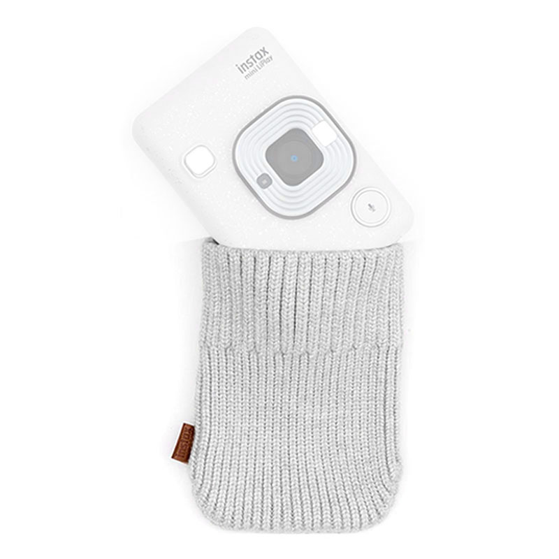 Sock Case Fujifilm Instax Mini Liplay Stone White