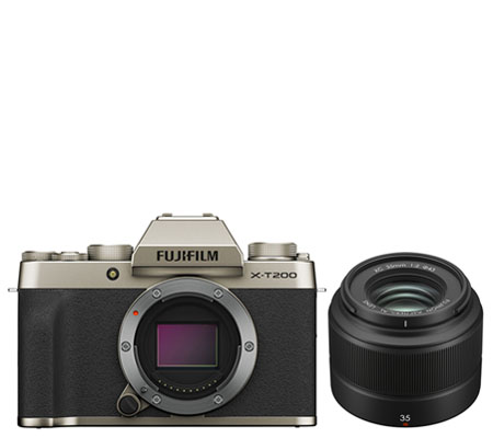 Fujifilm X-T200 Kit XC 35mm f/2 Champagne Gold