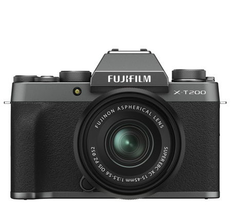Fujifilm X-T200 kit XC15-45mm f/3.5-5.6 OIS PZ Dark Silver