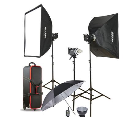 Godox MS300-D 3 Monolight Flash Head Studio Flash Kit