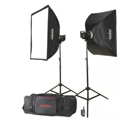 Godox MS300-E 2 Monolight Flash Head Studio Flash Kit