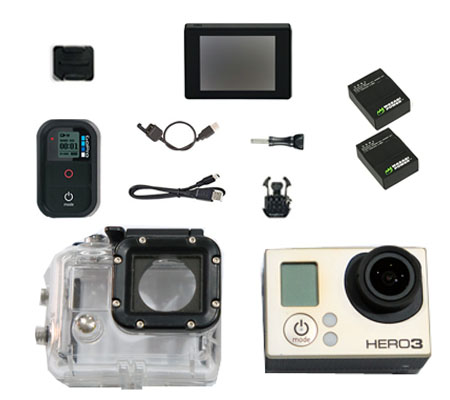 ::: USED ::: GoPro Hero3 (Silver) Package With LCD Backpack (Excellent To Mint-CCFA)