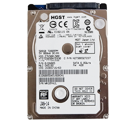 HGST Hitachi 500GB SATA 6 GB/s (2.5 Inch Hard Disk Drives)