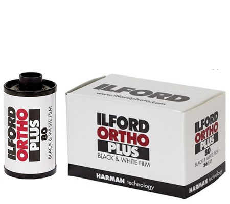 Ilford Ortho Plus 135 ASA 80 BW 35mm 36Exp Roll Film