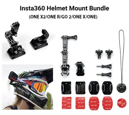 Insta360 Helmet Mount Bundle for Insta360 ONE X2/ONE R/GO 2/ONE X/ONE