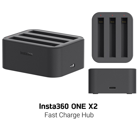 Insta360 ONE X2 Triple Battery Charger Fast Charging HUB