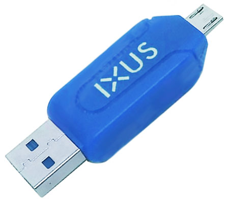 Card Reader IXUS OTG Micro USB Blue