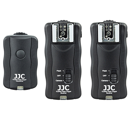 JJC JF-U2 Wireless Remote Control & Flash Trigger Kit (1 Transmitter + 2 Receivers)