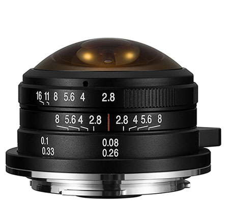 Laowa For Micro Four Thirds 4mm f/2.8 Venus Optics Fisheye.