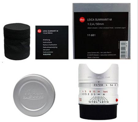 :::USED:::Leica Summarit-M 50mm f/2.4 Lens (Silver) (11681) Mint-066