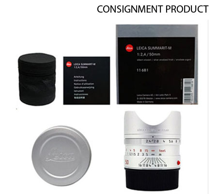 :::USED::: Leica Summarit-M 50mm f/2.4 Lens (Silver) (11681) (Mint-066) CONSIGNMENT