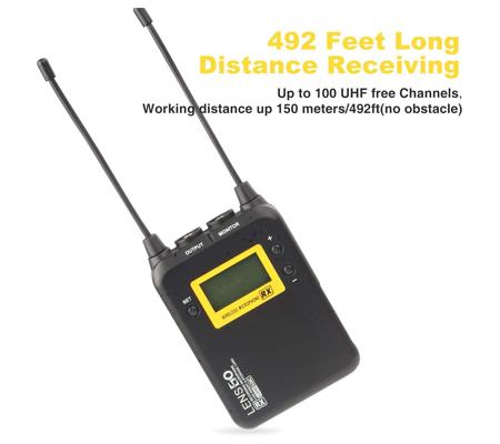 LensGo LWM-328C TX+TX+RX Dual Wireless Omni Lavalier Microphone System