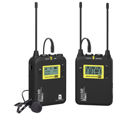 LensGo LWM-328C TX+RX Single Wireless Omni Lavalier Microphone System