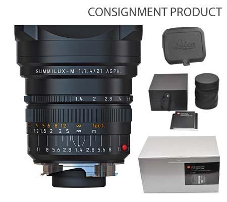 :::USED::: Leica 21mm f/1.4 Summilux-M ASPH Black (11647) (Excellent#154) Consignment