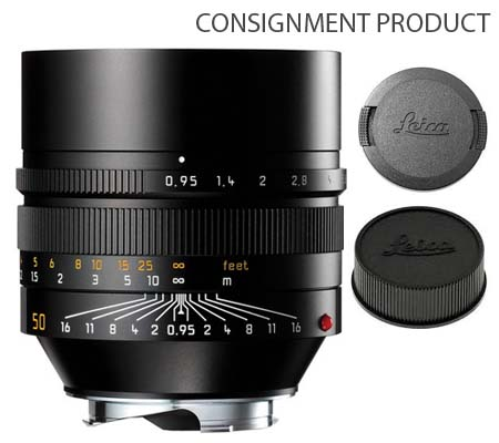 :::USED::: Leica 50mm f/0.95 Noctilux-M ASPH Black (11602) Excellent Kode 094 Consignment