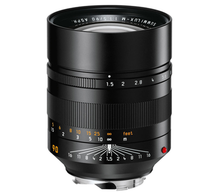 Leica 90mm f/1.5 Summilux-M ASPH Black (11678)