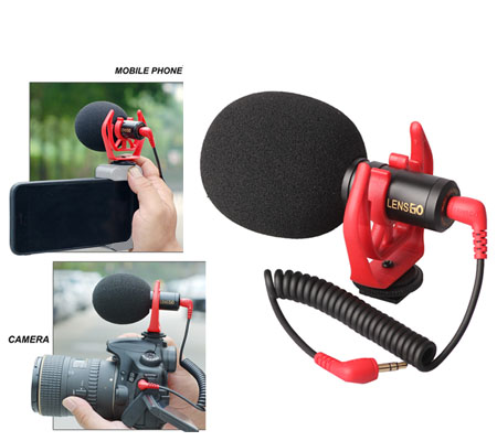 LensGo LYM-DMM1 Cardioid Microphone for Camera & Smartphone