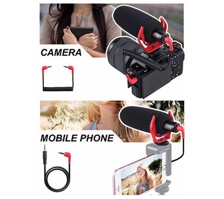 LensGo LYM-DMM2 Super Cardioid Microphone for Camera & Smartphone