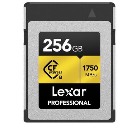 Lexar Professional CFexpress 256GB 1750MB/s Type B Card Gold
