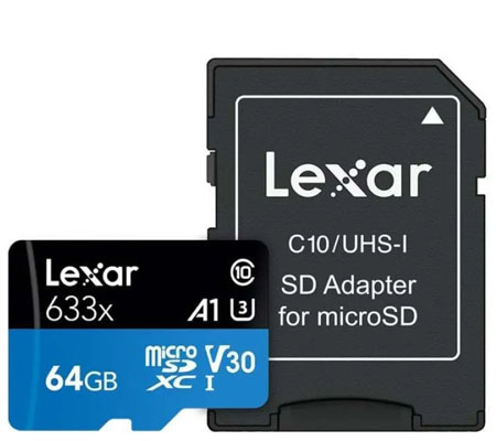 Lexar Micro SDXC 64GB 100MB/s 633x UHS-I