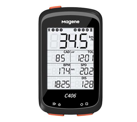 Magene C406 GPS Smart Bike Computer Black