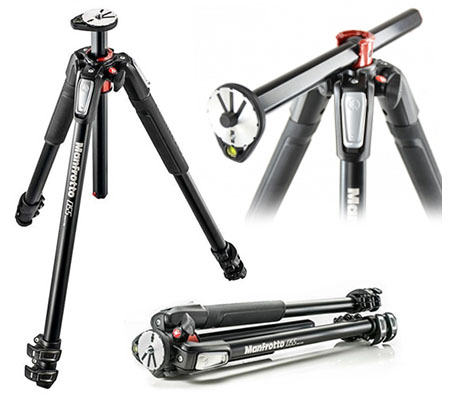 Manfrotto Aluminium 3-Section Tripod with Horizontal Column (MT055XPRO3-055)