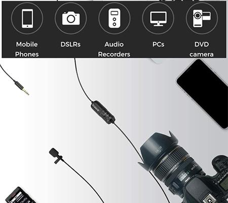 MirFak MC1 Lavalier Microphone for Camera & Smartphone