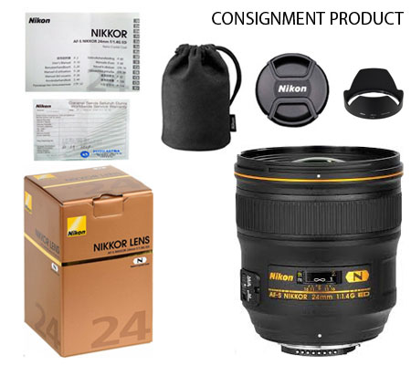 ::: USED ::: Nikon AF-S 24mm F/1.4G ED N (Excellent To Mint-442) CONSIGNMENT