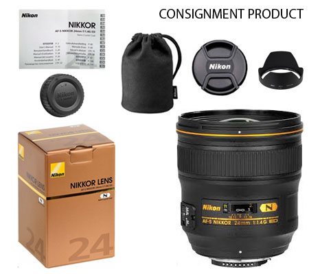 :::USED:::Nikon AF-S 24mm f/1.4G ED N (Mint) Kode 881 Consignment