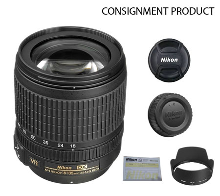 :::USED:::Nikon AF-S 18-105mm f/3.5-5.6G ED DX VR (MINT) Kode 805 Consignment