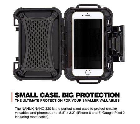Nanuk Nano 320 Protective Hard Case Black