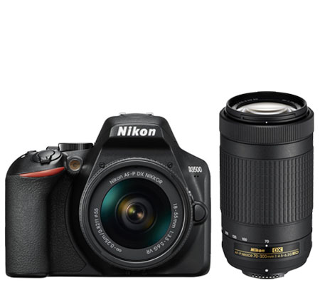Nikon D3500 Kit 18-55mm FREE Lensa AF-P DX 70-300mm non VR