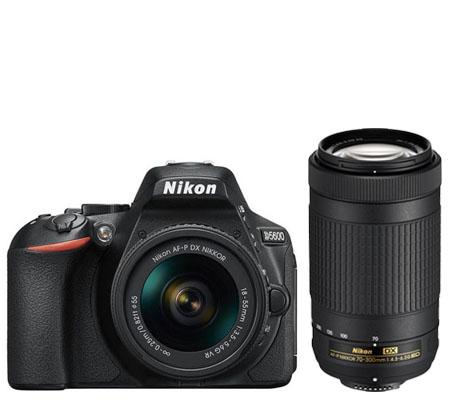 Nikon D5600 kit AF-P DX 18-55mm f/3.5-5.6G VR FREE Lensa AF-P DX 70-300mm non VR