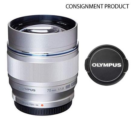 ::: USED ::: Olympus M.Zuiko Digital ED 75mm F/1.8 (Silver) (Mint-489) CONSIGNMENT