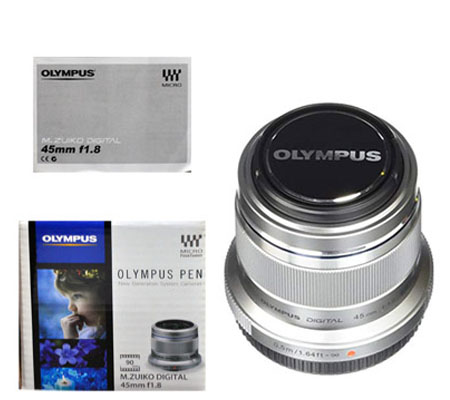 ::: USED ::: Olympus M.Zuiko 45mm F/1.8 (Silver) (Mint-940)