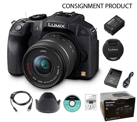 :::USED:::Panasonic DMC-G6 KIT 14-42 Black (Excellent) Kode 020/077 CONSIGNMENT