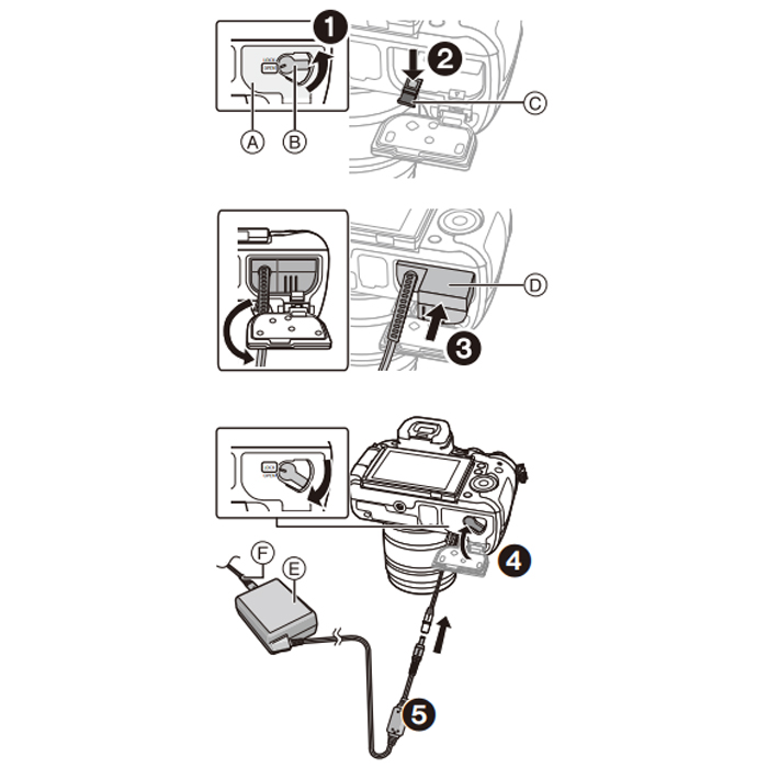 Panasonic DC Coupler DMW-DCC12 For GH3/GH4/GH5/GH5S