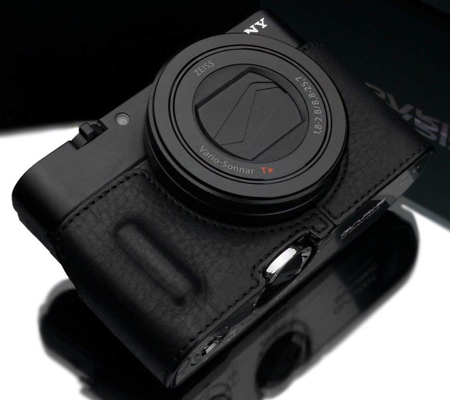 Gariz Leather Case for RX100M3 (HG-RX100M3BK) Black