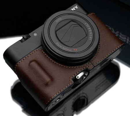 Gariz Leather Case for RX100M3 (HG-RX100M3BR) Brown