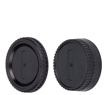 JJC L-R2 Body Cap and Rear Lens Cap for Nikon