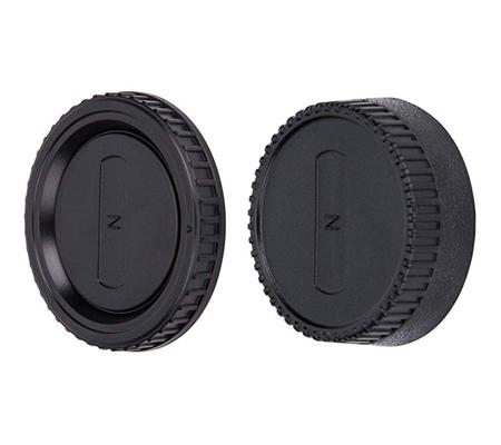 JJC L-R2 Body Cap and Rear Lens Cap for Nikon