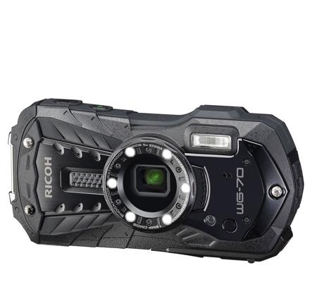 Ricoh WG-70 Waterproof Digital Camera Black