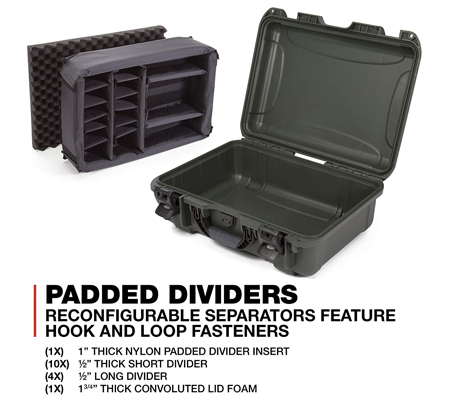 Nanuk 925 Case with Padded Dividers Olive